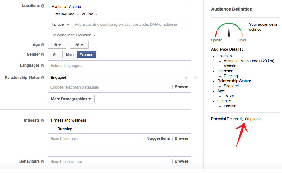 Image of Facebook advert manager for digital marketing