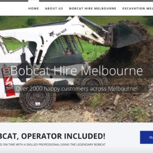 Screenshot of XL Bobcat Hire Melbourne website.